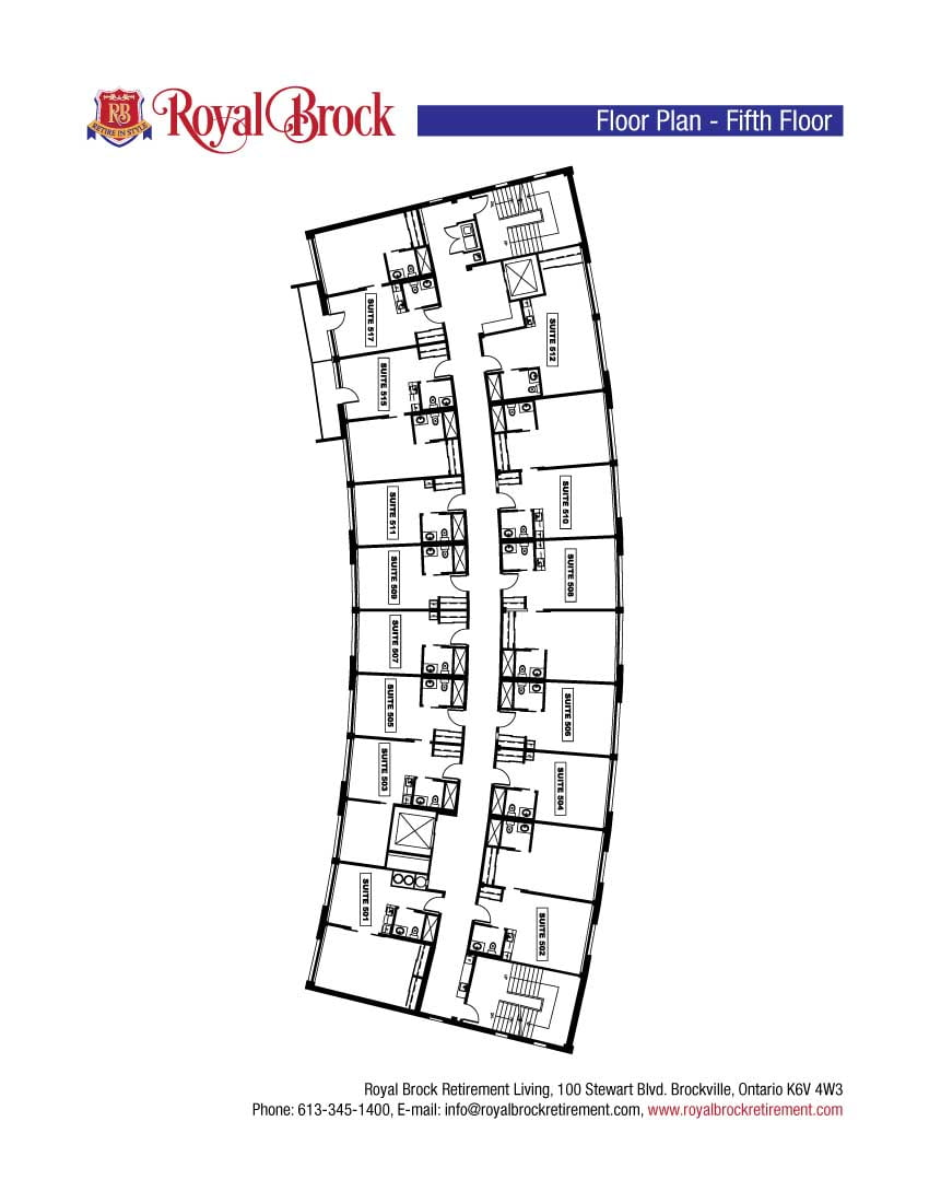 Royal Brock Fifth Floor Plan