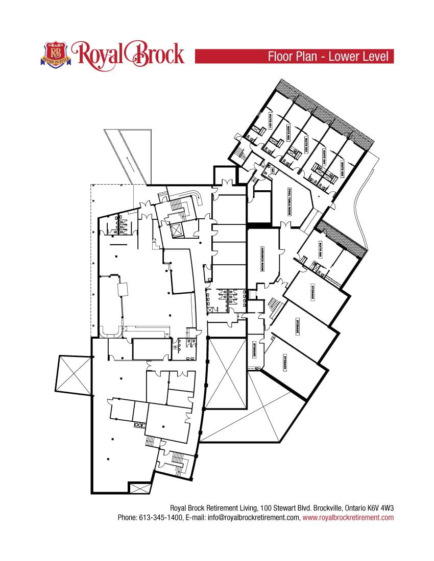 Royal Brock Lower Level Plan