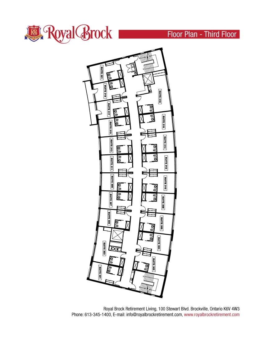 Royal Brock Third Floor Plan